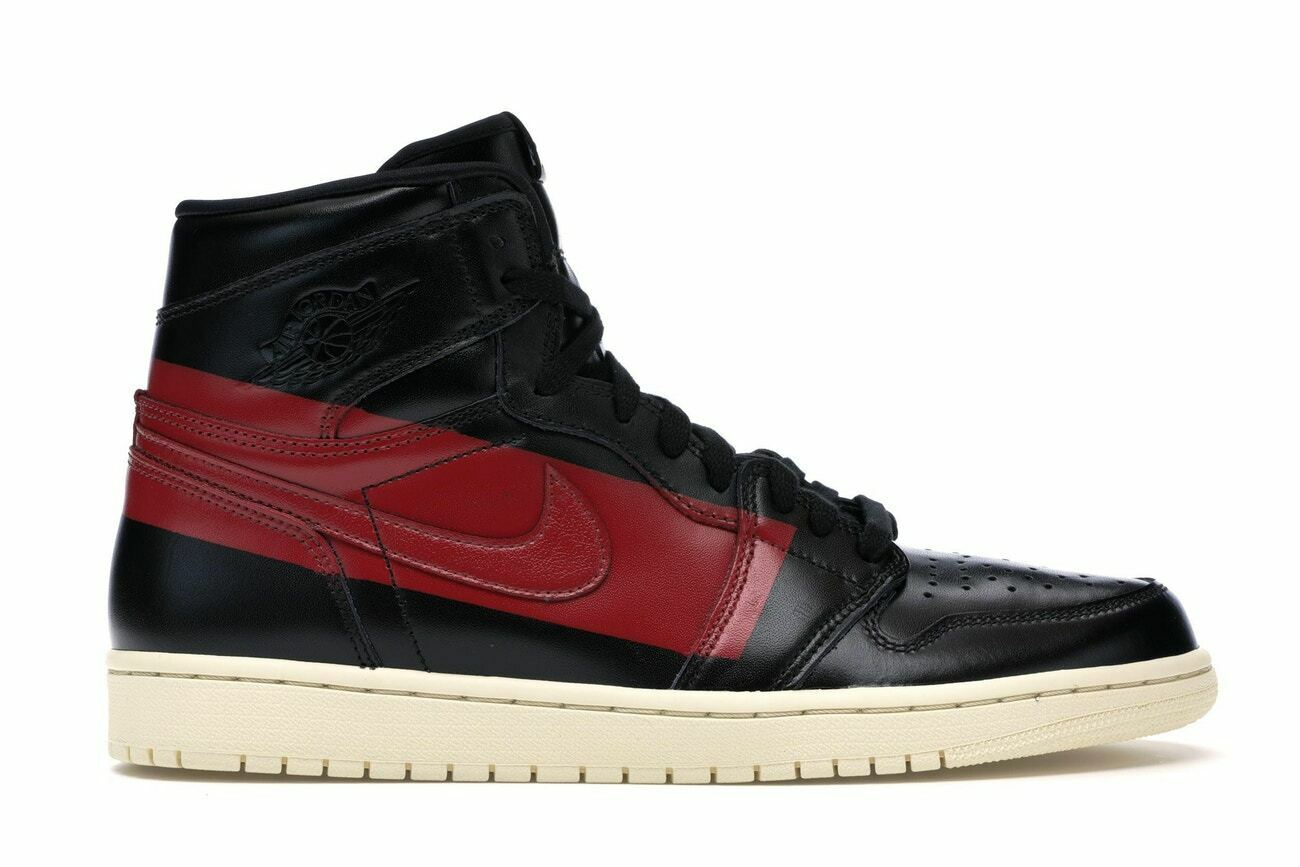 NIKE AIR JORDAN 1 DEFIANT COUTURE  BLACK GYM RED-MUSLIN   US 12 WITH BOX