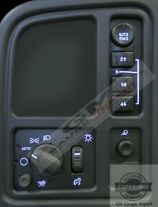 03-04-05-06-Silverado-Tahoe-Left-Dash-Switches-4WD-bulb-LED-Upgrade-Kit-Blue