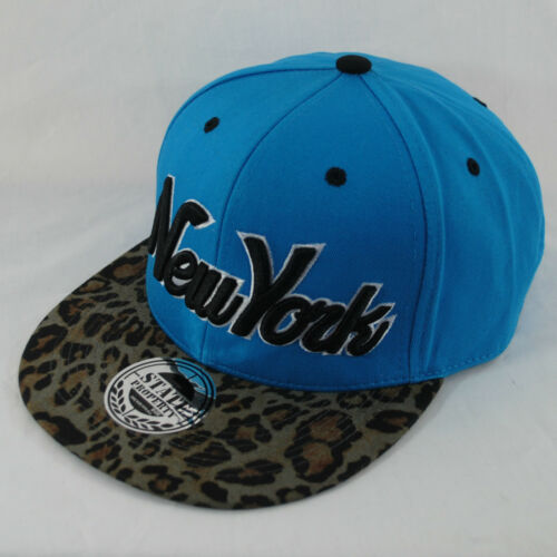New State Property New York NY Leopard Peak Flat Peak Snapback Baseball Cap Hat