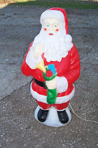Empire Plastic Blowmold 40 Quot Light Up Christmas Santa Claus