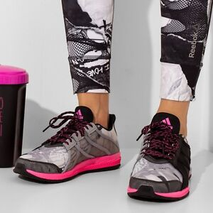 Image is loading Women-Adidas-Gymbreaker-Bounce-Black-Pink-Sneakers-Adidas-