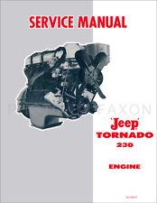 Jeep Tornado 230 Engine Shop Manual 1962 1963 1964 1965 Pickup Station Wagon