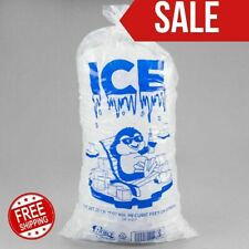 """10-20-40 LB 3 MIL LDPE Reusable Bags for Ice Clear FDA Plastic 18x33.5x5/""""+2/"""" LIP"""