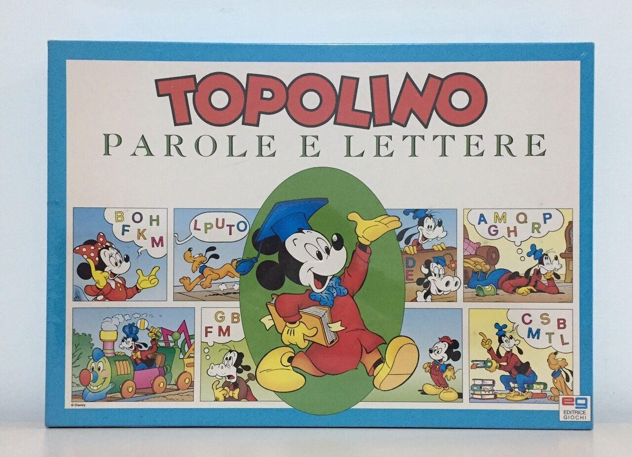 TOPOLINO PAROLE E LETTERE EG gioco scatola VINTAGE tavolo SIGILLATO 1994 regalo