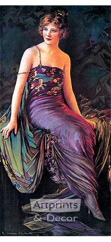 Art Print of Vintage Art Diana by Charles Allan Gilbert
