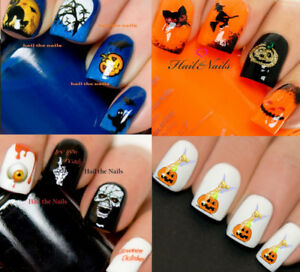 Halloween-Nail-Nails-Art-Water-Transfer-Decal-Wraps-Stickers