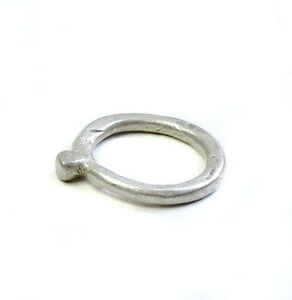 Antique unisex minimalist silver ring from Ethiopia EJ23