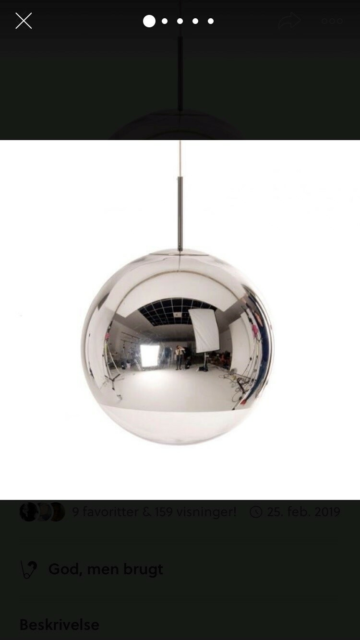 Anden loftslampe, Tom dixon mirror Ball, Varetype: Mirror…