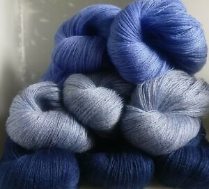 730g-OF-2-PLY-100-PURE-BRITISH-KNITTING-WOOL-9-SKEINS-TRUE-BLUE-PACK