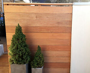 terrassendielen als windschutz sichtschutz wand mauer holz planken dielen ebay. Black Bedroom Furniture Sets. Home Design Ideas