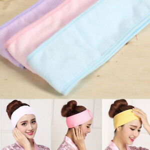 Makeup-Towel-Hair-Wrap-Head-Band-Soft-Adjustable-SPA-Facial-Sweatband-Hairband
