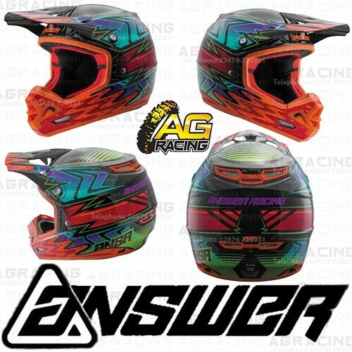 Answer Racing Adult Helmet AR-3 Haze 2018 Orange Red Motocross Enduro Quad ATV
