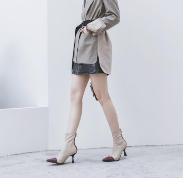 Damen Zipper Stretchy Stilettos High Heels Heels Heels spitze Zehen stiefeletten lässig 40    Sofortige Lieferung  26ee80
