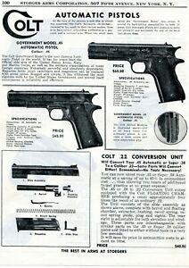 1950-Print-Ad-of-Colt-Government-Model-45-Auto-Pistol-amp-22-Conversion-Unit