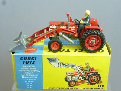 Corgi Toys 69 Massey-Ferguson 165 Tractor With Shovel  Front Tyres