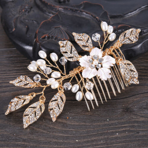 Wedding Bridal Handcraft  Pearl Flower Hair Accessories Clips Accessories Comb