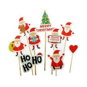 8-9Pcs-Christmas-Elk-DIY-Cake-Topper-Cupcake-Insert-Card-Birthday-Decor-Kid