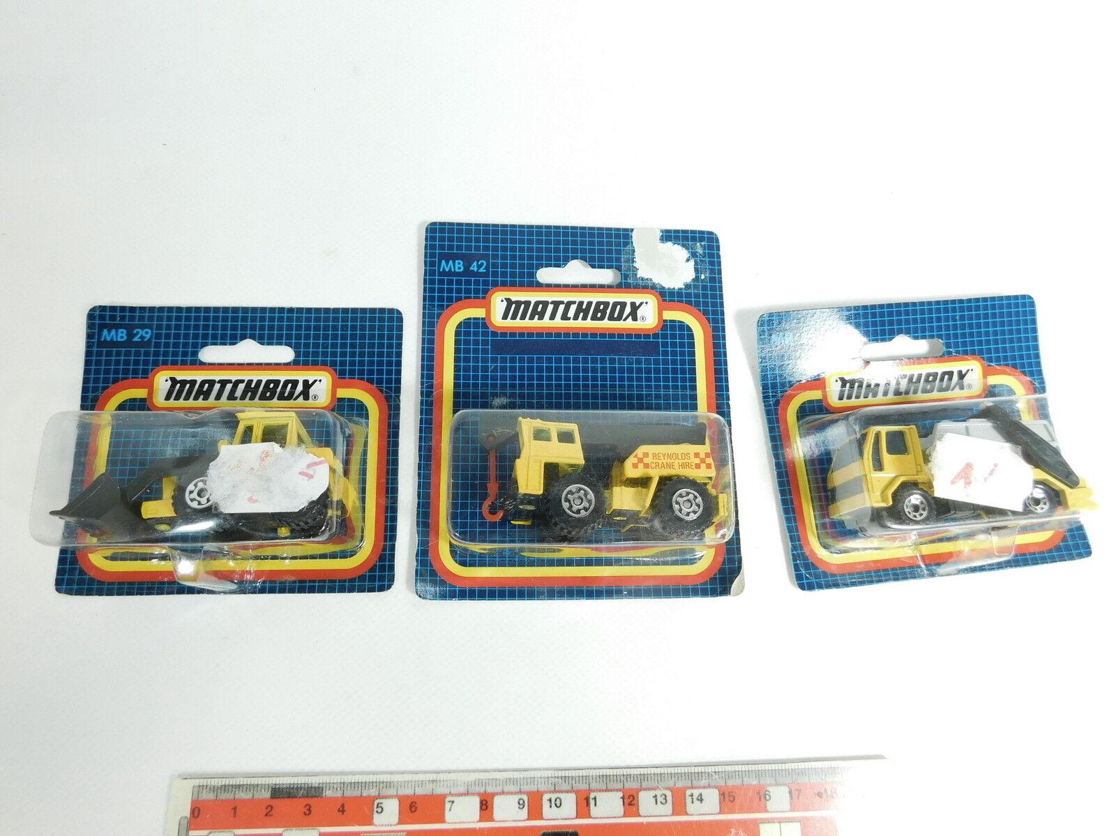 BB793-0,5  3x Matchbox Modèle MB 29 Chargeur à Roues  45 Camion  42,Neuf  Ovp