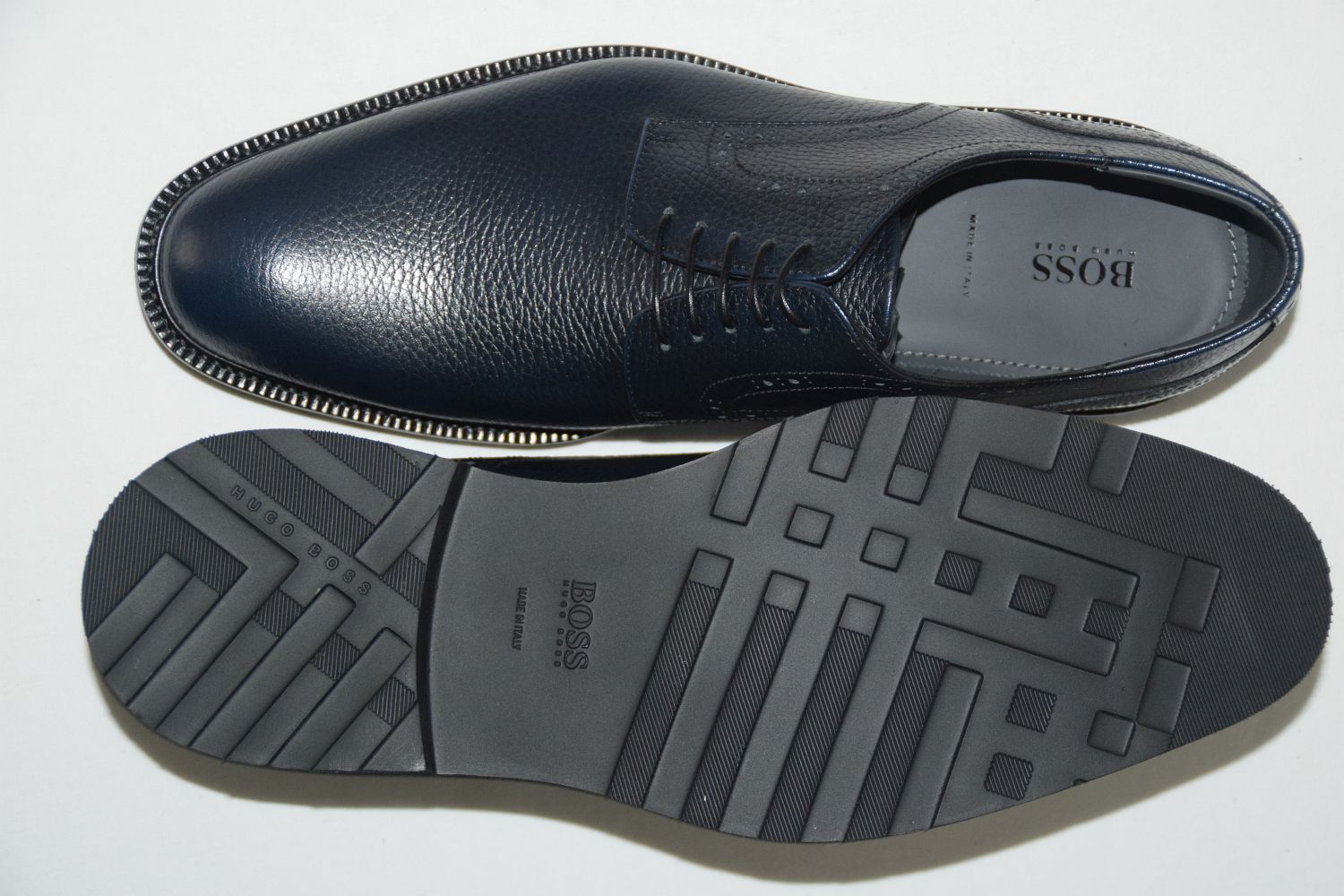 HUGO 45, BOSS BUSINESSSCHUHE, Gr. EU 45, HUGO   , Made in , Dark Blau 196dfa