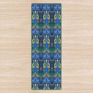 Chakra Meditation Om Yoga Mat High Quality Uk Designer Brand Non Slip Rubber Ebay