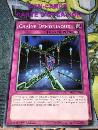 OCCASION Carte Yu Gi Oh CHAINE DEMONIAQUE SR03-FR036 1ère édition
