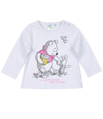 Disney Baby Shirt Langarm süße Motive Minnie Marie Winnie Pooh Gr 62 68 80 86 92