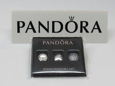 New Pandora April Rock Crystal & Clear CZ Petite Mini Charms 792091RC 4 LOCKET