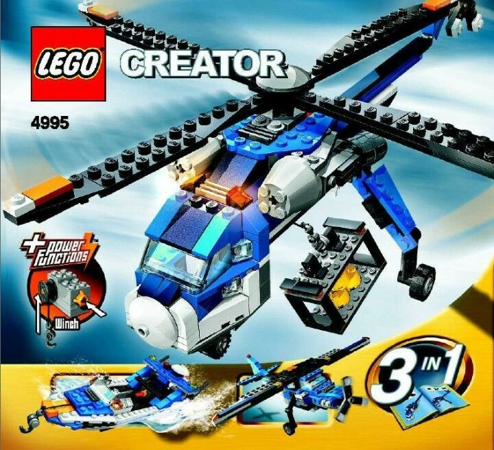 LEGO Creator Cargo Copter 4995 3-1 New & Sealed rare discontinued vintage