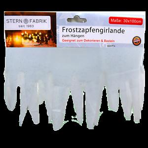 Details Zu Frostzapfengirlande Zum Hängen 30x100cm Dekoration Weihnachten Schnee Basteln