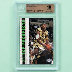 2003-04-Upper-Deck-Top-Prospects-3-Lebron-James-Rookie-card-BGS-10-Pristine