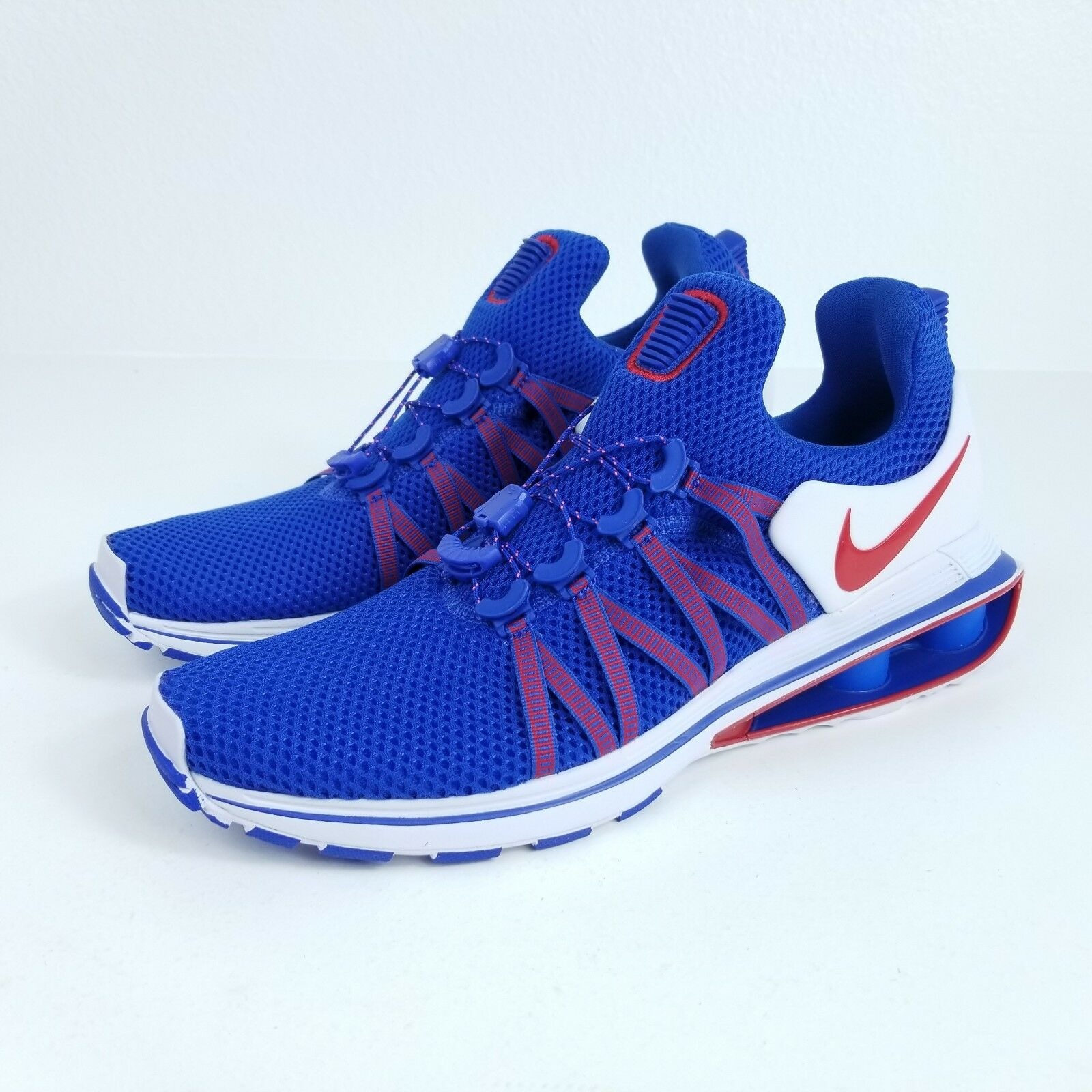 NIKE Shox Gravity Mens Sz 10.5 Shoes Blue Red White AR1999 406 Comfortable and good-looking