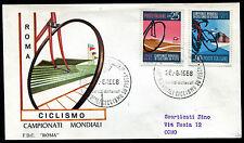 1968 - Campionati Mondiali di Ciclismo - n.1092/1093  - Busta FDC