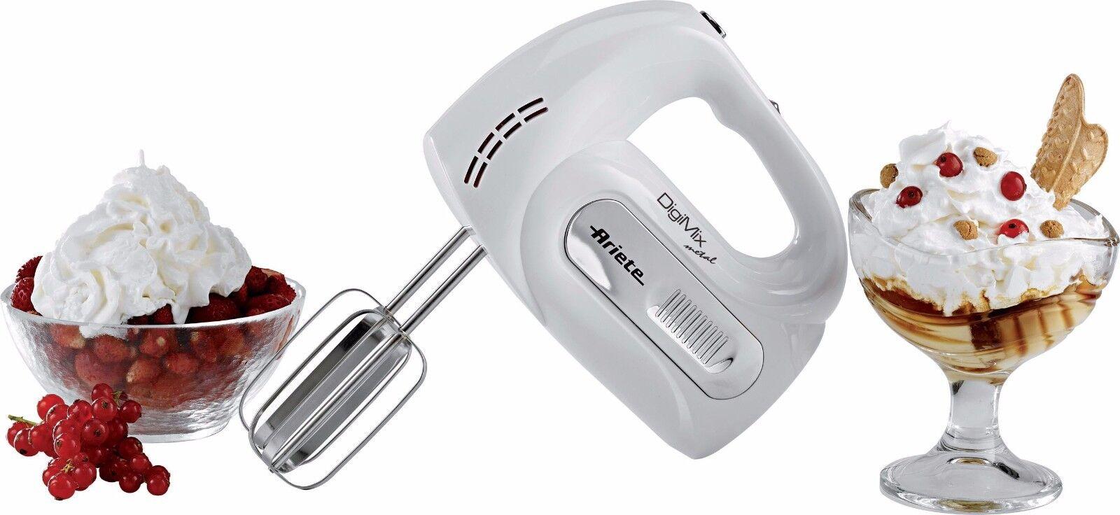 Ariete 1568 Digimix Metal Electric Hand mixer whisk blender 300W