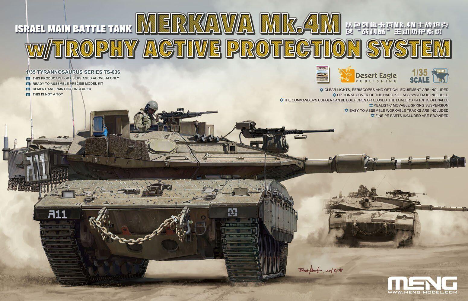 Meng Model 1 35  TS-036 IDF Merkava Mk.4M w Trophy Active Predection System
