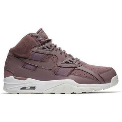 New Nike Men's Air Trainer SC High Shoes (302346-201)  Taupe Grey//White