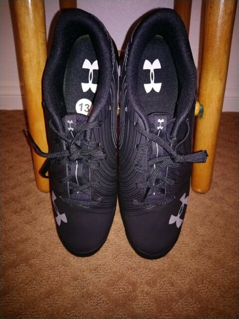 Under Armour Mens UA Nitro Mid D Cleats 1269717-001 New in Box 100/% Auth Black