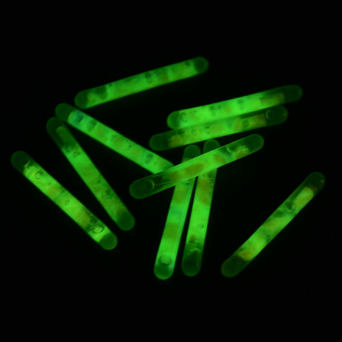 25pcs//50pcs 4.5*39mm Glowing Fluorescent 30M Luminous Float Night Fishing Flo xj