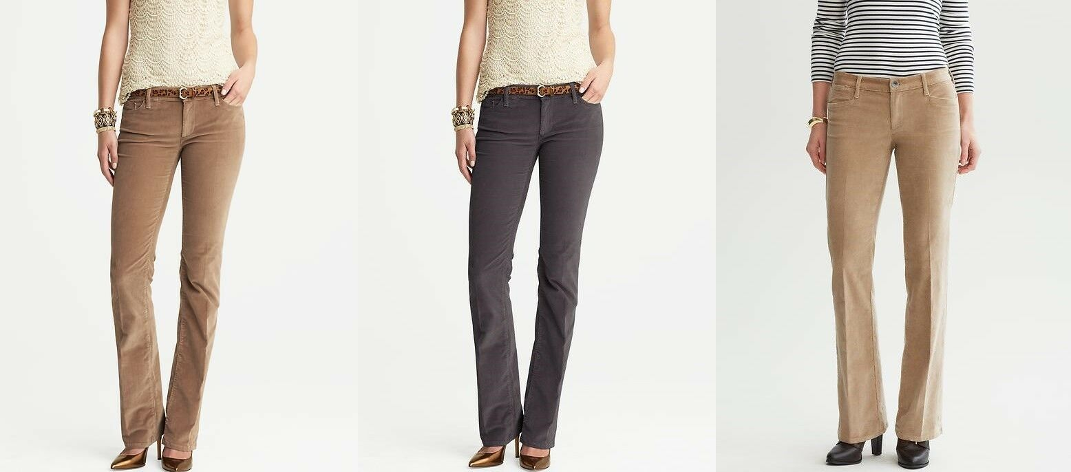 NWT Banana Republic Corduroy Trousers for Women and Petites 00P 0S 0 v