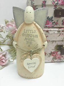 Image Is Loading East Of India Cream Wood Guardian Angel Special