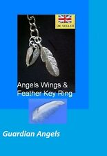 Feather Angel Wings Key Ring (Guardian Angels) Remembrance Memory  Organza Bag ^
