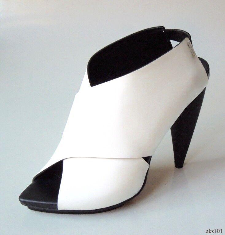 Nuevo En Caja    895 Proenza Schouler blancoo De Cuero Negro Zapatos Tacones Zapatos 36.5 6.5 f5e148