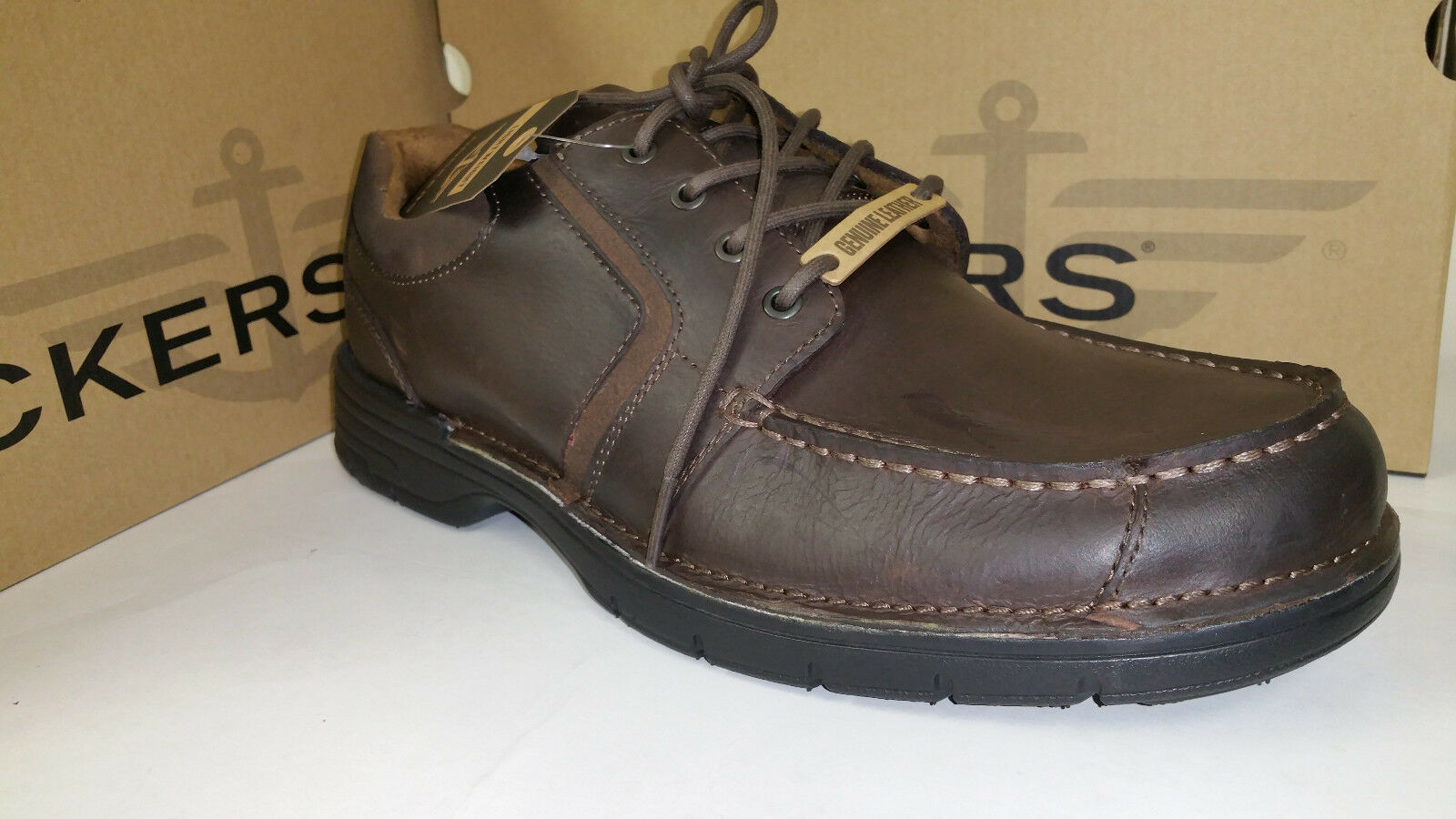 Scarpe casual da uomo Dockers Stowe Light Weight Brown Leather Casual Shoes size 7-12