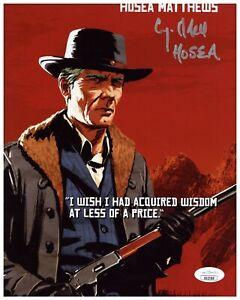 Curzon Dobell Autograph Signed 8x10 Photo - Red Dead Redemption 2 (JSA COA)