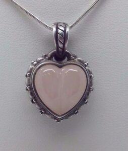 Judith ripka sterling silver rose quartz or jade heart pendant image is loading judith ripka sterling silver rose quartz or jade aloadofball Images