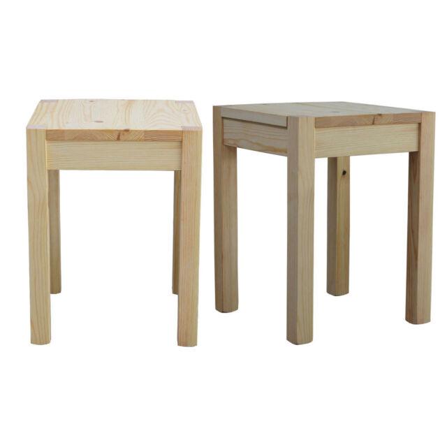 Massivholz Sitzhocker Kiefer Blumenhocker Beistelltisch Holzhocker Tm 03