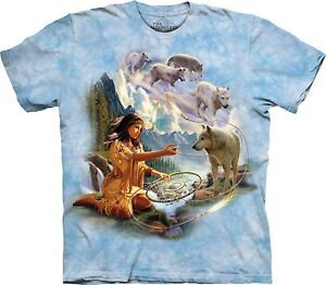 Adult Shirt Dreams Unisex T Wolf Indians Of Mountain Spirit FOfXqwY