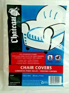 Swell Chateau Plastic Covers Fits Oversized Chairs 72 X 46 2 Andrewgaddart Wooden Chair Designs For Living Room Andrewgaddartcom