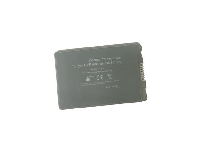 "5200mAh battery for APPLE PowerBook G4 15"" Aluminum 661-2927,A1045,A1078,A1148"