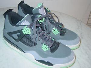 2013-Nike-Air-Jordan-Retro-4-034-Green-Glow-034-Dark-Grey-Green-Glow-Shoes-Size-12