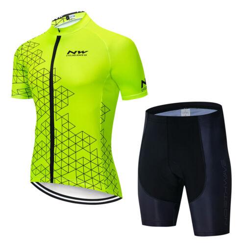 NW Men/'s Cycling Jersey Suit Long sleeve Shirt Road Bike Clothes Bib Pants Set